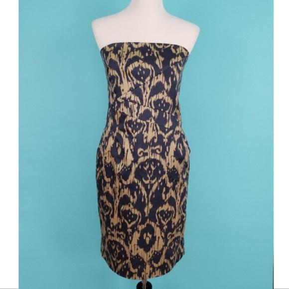 da746a150e0 Michael Kors ikat print strapless sheath dress. M 5cad78a7b146ccca6155809d